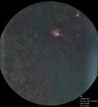 88PとM8、M20の接近 - お手軽天体写真
