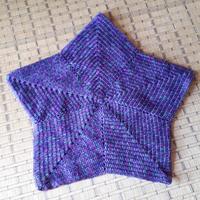 星形ブランケット完成 - ふくすけのコネコネ 編み編み てくてく日記