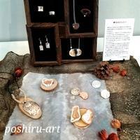 第18回美銀作品展、始まりました!! - 銀粘土と樹脂粘土と2匹のねこ
