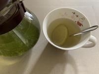 緑茶にベルガモットシロップ漬け果実♡ - いととはり