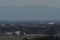 遠くに雪山を望んで白煙が走る- 2020年・真岡鉄道 - - ねこの撮った汽車