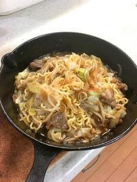 スキレットロー麺(ローメン・郷土料理?) - 無言は多様