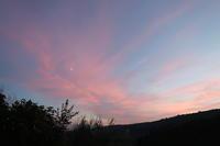 桃色の雲と月うれしい特別賞賞品 エキサイトブログ - イタリア写真草子 Fotoblog da Perugia