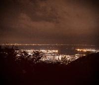 山頂途中での神戸の夜景 - クロモリフレームにこだわるBellatte