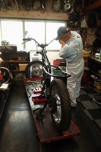 1963 TRIUMPH T120 フレーム・スィングアーム・フロントフォーク - Vintage motorcycle study