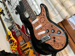 ギターの改造とカービングによる装飾♪ - 俺のホビー!!ほぼシェリダンスタイルカービング(゚д゚)(。_。)ウン!
