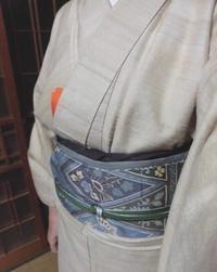 京友禅の更紗帯 - 月下逍遥