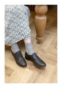 秋っぽい?靴下お茶 - 編みあみ*さんぽ道