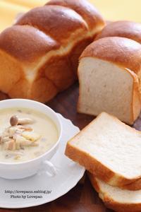オリジナル酵母の生クリーム食パン - Lovepan