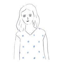 ほほえむ女性 - イラストレーション ノート