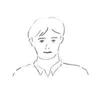 無精ひげの男性 - イラストレーション ノート