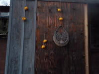 柿をむき、柿を干す(No.292) - 薪窯冬青 犬と山暮らし