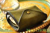 イタリアンレザー・プエブロ・2つ折りコインキャッチャー財布オリーバ・時を刻む革小物 - 時を刻む革小物 Many CHOICE~ 使い手と共に生きるタンニン鞣しの革