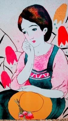 乙女のモダンデザイン。 -
