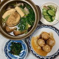 今日は中食の日。「湯葉鍋鴨だんご入り」 - おひとりさまの「夕ごはん」