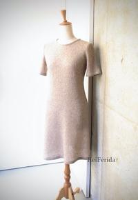 Beige knitted dress - KeiFerida