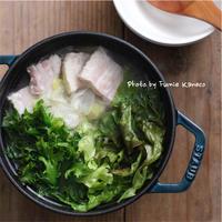 レタスがうまい❗️レタスと塩豚のシンプル鍋 - ふみえ食堂  - a table to be full of happiness -