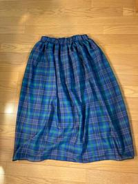 オーガンジーフィラメントチェックのスカート4 - のらりくらりと