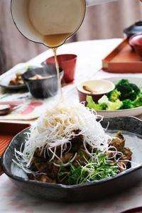 醤油糀「ザンギ」のあっちっちごま油かけ - 登志子のキッチン