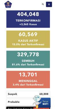 10月29日(木)の集計インドネシア政府発表より - 手相占い 本・水槽・その他