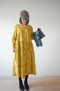 コーデュロイのワンピースが完成しました♡ - 親子お揃いコーデ服omusubi-five(オムスビファイブ)