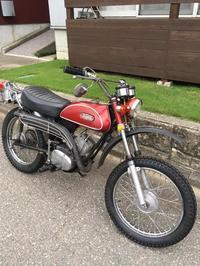 Replaced Yamaha AT-1's front wheel - 名称未設定 - 古いくるま, バイクとシンプル田舎暮らし