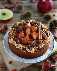 りんごとプルーンのケーキ - たのしいこと すきなこと