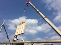 大型パネルによる上棟が無事に完了!(HM2) - 50代からの家づくり。