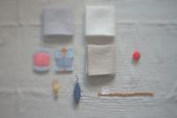 正方形からつくる巾着... - 花と手芸 花sakka  手仕事ノート