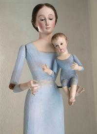 聖母子像 100cm ケージドール /H197 - Glicinia 古道具店