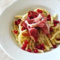 ザクロのパスタとナスのオレンジ風味 - 幸せなシチリアの食卓、時々にゃんこ