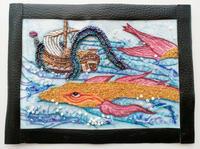 刺繍で北斎まんが海縄と仁魚② - とんでもひつじ日和