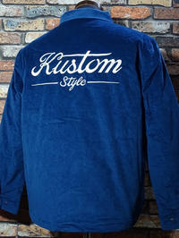 kustomstyle コーディロイ ジャケット (KSHWJ2024) service station corduroy jacket カラー:ネイビー・ブラウン 29,700円(内税) 入荷 - ZAP[ストリートファッションのセレクトショップ]のBlog