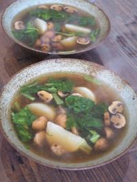 簡単マッシュルームと蕪のスープ - sobu 2