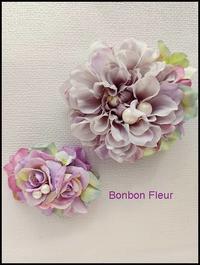 セミオーダーお揃いのコサージュ&髪飾り(親子) - Bonbon Fleur ~ Jours heureux  コサージュ&和装髪飾りボンボン・フルール