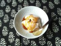 おぼろ豆腐と黒蜜で、豆腐花 - Minha Praia