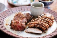 豚肉低温調理2種とコロッケ - 登志子のキッチン