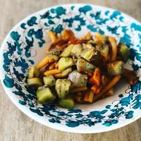 揚げナスのパスタ、アッラノルマ - 幸せなシチリアの食卓、時々にゃんこ