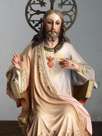 王であるキリスト 坐像 48cm  /H261 - Glicinia 古道具店