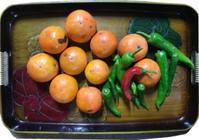 柿色 - マリカの野草画帖