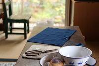 藍染めさらしのまん丸刺し子ふきん - キラキラのある日々