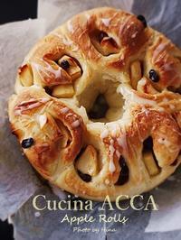 旬のりんごでふんわりパン、アップルロール - Cucina ACCA(クチーナ・アッカ)