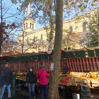 パリのマルシェメッセージを伝えるヴァイオリニスト - keiko's paris journal                                                        <パリ通信 - KSL>