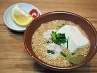 鶏がらスープで胡麻つみれ - sobu 2