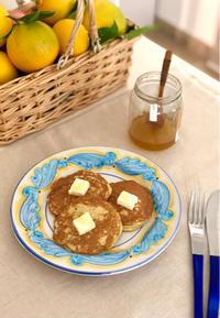 朝のパンケーキはシチリアオレンジの香り - 幸せなシチリアの食卓、時々にゃんこ