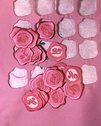 シーリングスタンプ刺繍でラッピンググッズ♪ - Atelier Chou