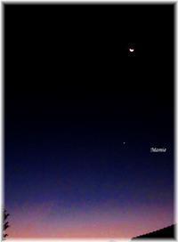 明けの明星と三日月 - おだやかに たのしく Que Sera Sera