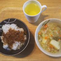 ゆっくりちりめん山椒ごはん、野菜のスープ - Hanakenhana's Blog