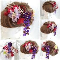 つまみ細工と造花の髪飾りセット - デイジーのひとりごと