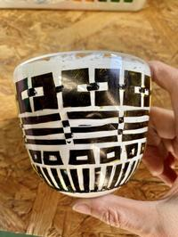 サンドブラスト - 宙吹きガラスの器